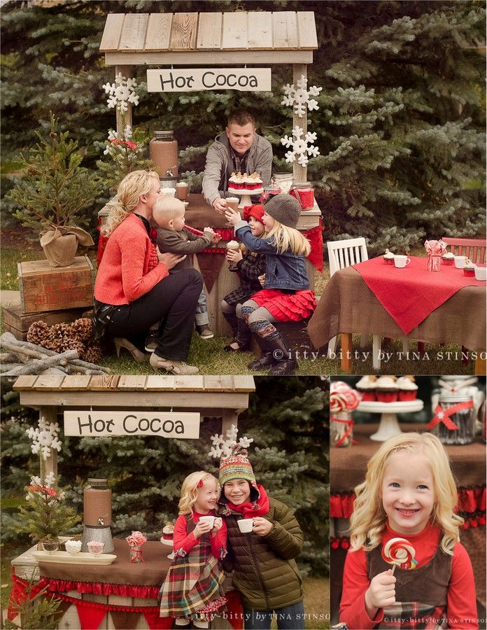 FAMILY HOLIDAY IDEAS HOT COCOA BOOTH
