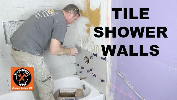 Learn how to tile a shower wall with our step-by-step tutorial. You'll learn how to cut holes in tile for tub spouts and mixing valves and more!