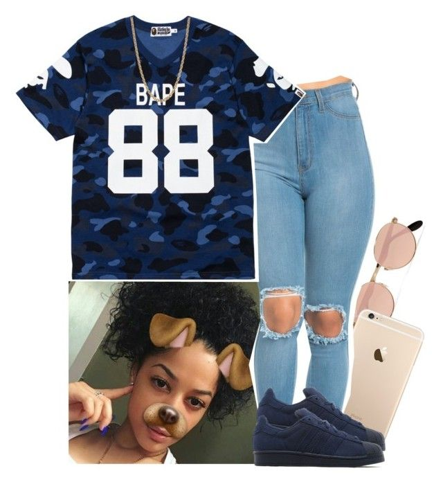 """""""Bape"""" by xtiairax ❤ liked on Polyvore featuring Ray-Ban, A BATHING APE, adidas Originals and Givenchy"""