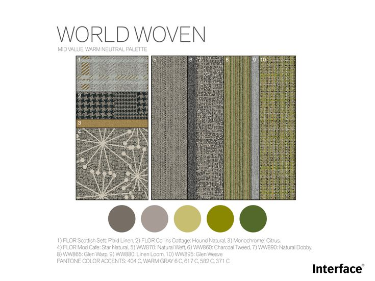 The World Woven Collection has green inspired office floor designs and other fun, modern design ideas for corporate workspace.
