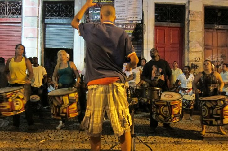 Street Drumming in Lapa – Rio de Janeiro, Brazil. Click photo to play authentic sound from www.thetouchofsound.com