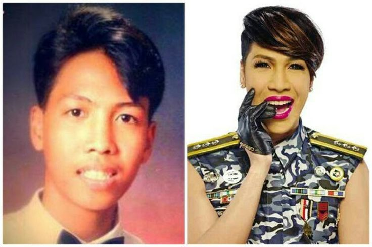 Vice Ganda What a fabulous transformation, don't you think? Who knew that the boy on the left would grow up to be a famous presenter, successful actor, recording artist, sarcastic comedian and the first openly gay endorser for Globe Telecom in the Philippines.