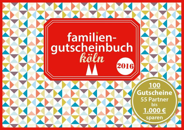 familiengutscheinbuch köln 2016 Cover