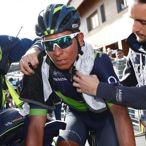Quintana wins solo and moves into the pink jersey! Motorbike accident shatters team sky hopes as Geraint Thomas was taken out by the crash.   Photo Credit: @gettysport