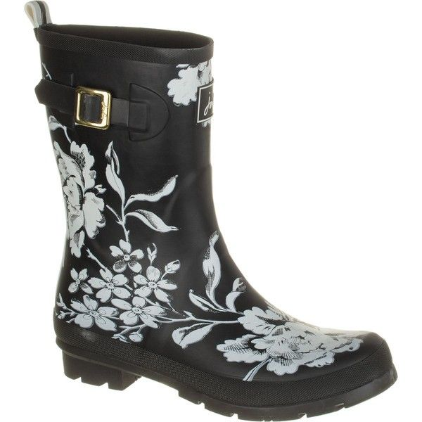 Joules Molly Welly Boot ($35) ❤ liked on Polyvore featuring shoes, boots, patterned shoes, wellies rubber boots, wellington boots, wellies boots and pattern boots