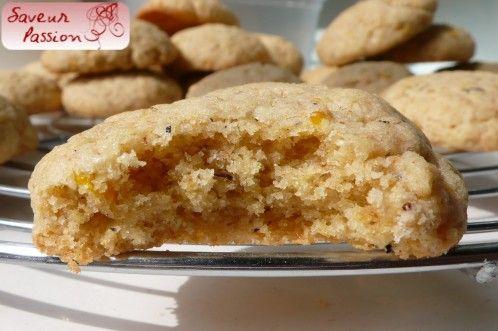 Biscuits moelleux orange thé noir