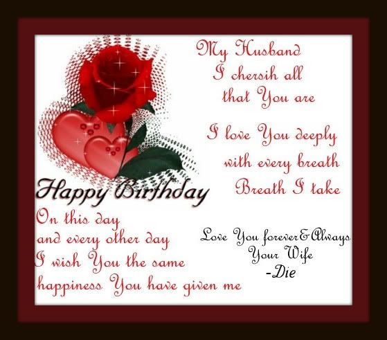 Funny Happy Birthday Poems For Husband: Happy Birthday Images For Husband