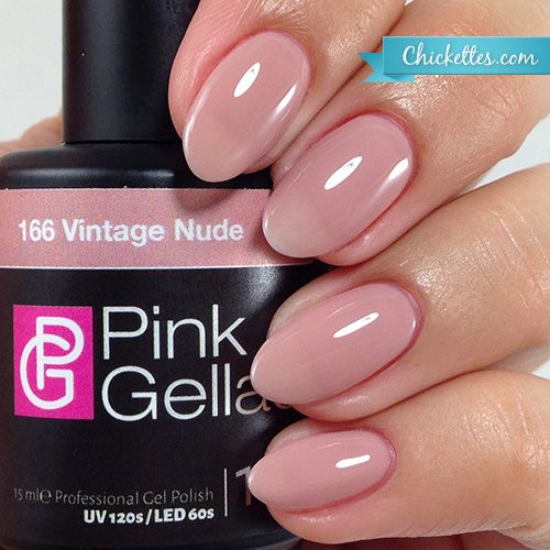 #166 Pink Gellac Vintage Nude :: Gel Colors :: Chickettes Boutique