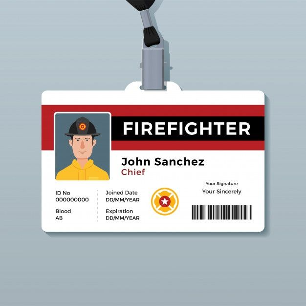 Firefighter Id Badge Template Badge Template Firefighter Id Badge