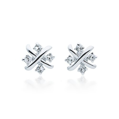 Meyiert 925 Sterling Silver Studs Earings for Women Cubic Zirconia Gemini Sets (with Gift Box) oxFD2KwHe