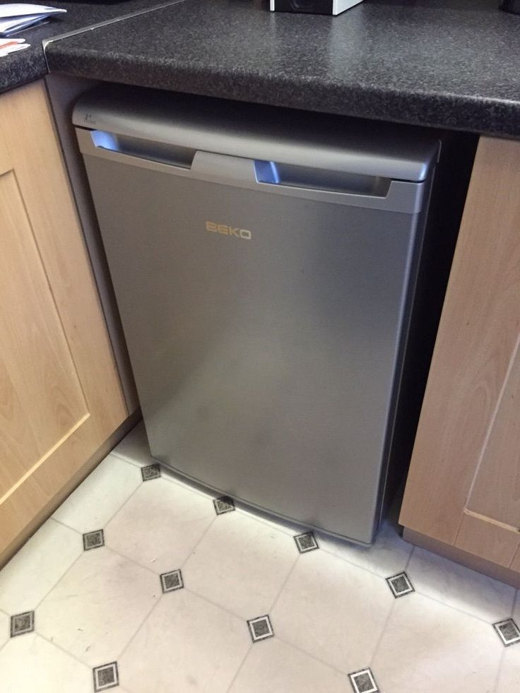 Beko Silver Under Counter Fridge Excellent Condition Inside And Out
