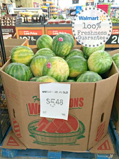 Buy watermelons at Walmart this weekend, with our 100% fresh produce guarantee!