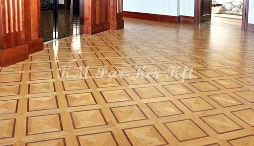 Wood inlay floor, parkett, parketta