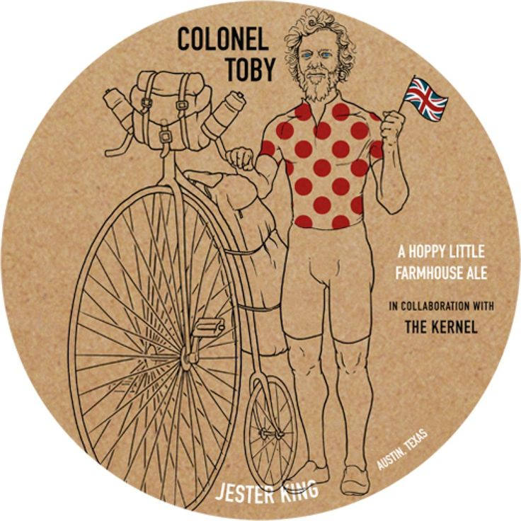 Jester King / The Kernel - Colonel Toby http://www.beer-pedia.com/index.php/news/19-global/4421-jester-king-the-kernel-colonel-toby #beerpedia #jesterking #thekernel #farmhouseale #beerblog #cascade #citra #centennial #beernews #newrelease #newlabel #craftbeer #μπύρα #beer #bier #biere #birra #cerveza #pivo #alus