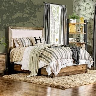 Furniture of America Arian Rustic Natural Ash Bed | Overstock.com Shopping - The Best Deals on Beds