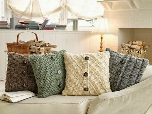 Home Made Modern: Copycat Craft: Cozy Sweater Pillows Made From Old Sweaters