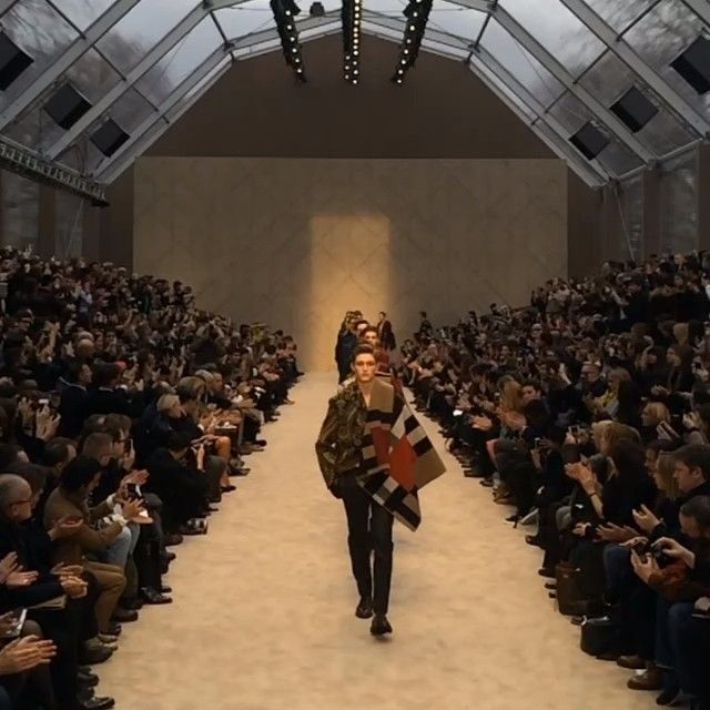 A Painterly Journey - watch the finale of the #Burberry Menswear A/W14 show #LCM