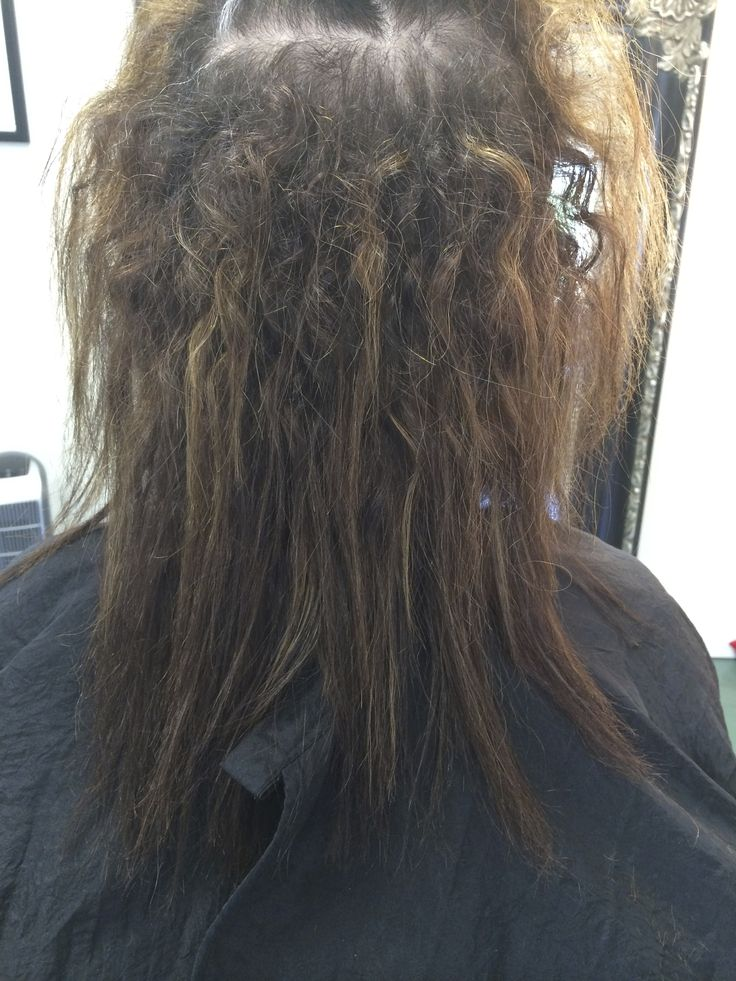 Nursing back to health a new client with Brazilian straightening treatments that destroyed her cherub curls.