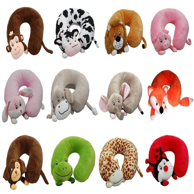 Childrens Inflatable Jungle Animal Travel Neck Pillow Cushion Head Rest Support
