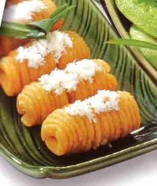 Getuk Lindri - Bruneian coconut sweet potato cake