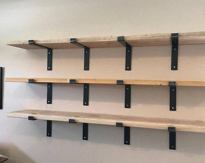 11 Inch Deep X 2 Wide X 1 4 Thick Steel Shelf Bracket Rustic Etsy Steel Shelf Brackets Shelves Steel Shelf