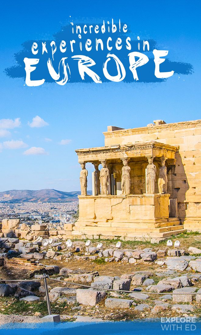 A list of incredible adventures that Europe has to offer, from a tour of the Acropolis in Athens to bike riding through The Balkans. How many have you tried?  #europe #athens #traveltips