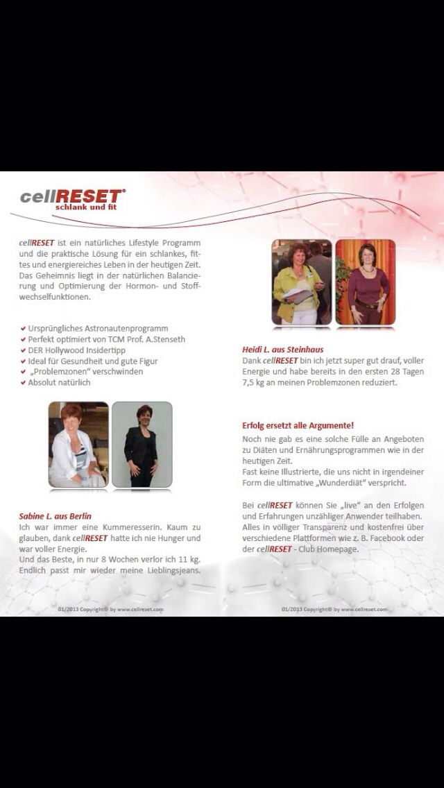 CellRESET Flyer