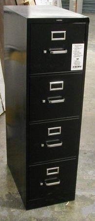 Hon 4-drawer File Cabinet Letter Size Black Filing Cabinet Large Amoun