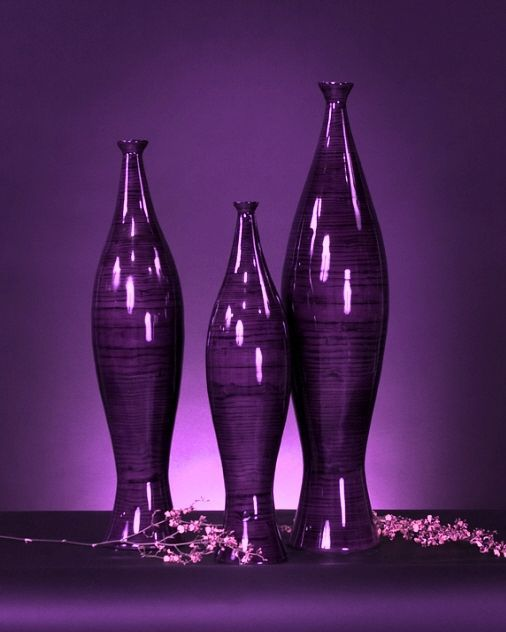Purple | Porpora | Pourpre | Morado | Lilla | 紫 | Roxo | Colour | Texture | Pattern | Style | Form | vases