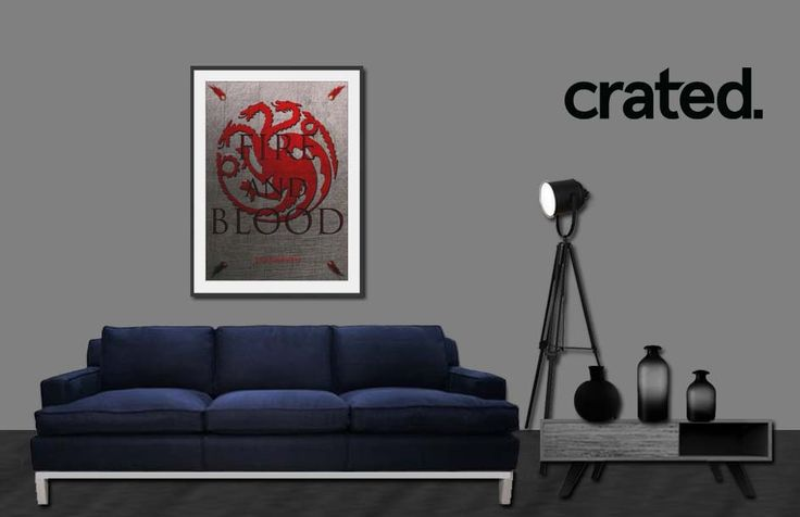 Targaryen Framed Poster #gameofthrones #gameofthronesposter #tvseries #crated #poster #fireandblood #targaryenposter #housetargaryen