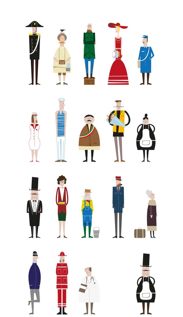 The Town People by Luca Boscardin, via Behance