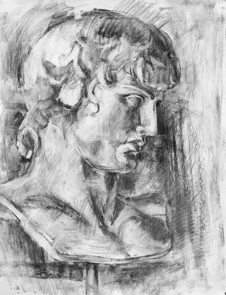 ANTINOOS......painted by Eva Arvanitidou..charcoal on fabriano paper  ..............arvanitidoueva@hotmail.com