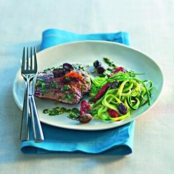 Biftecks à la sauce pistou - Cuisine et Vins de France