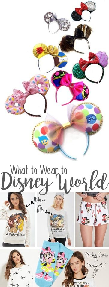 What to wear to Disney World and Universal Studios, such as cute disney movie and princess themes minnie mouse ears
