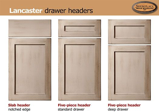 Showplace lancaster a flat panel door with a notched for F kitchen lancaster