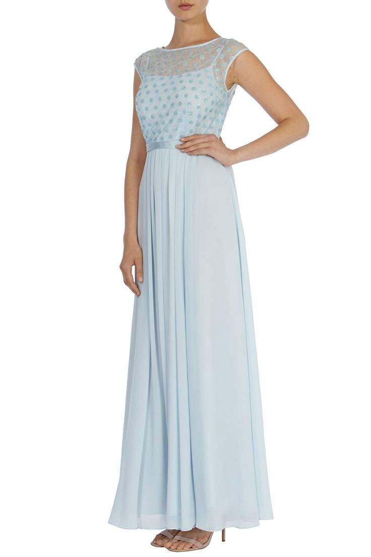 All Dresses | Blues LORI LEE CLUSTER MAXI DRESS | Coast Stores Limited