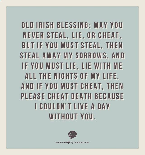 Leap Year movie wedding speech quote - Old Irish Blessing - the perfect wedding toast!
