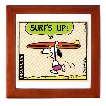 Surf's Up! Keepsake Box  Surf's Up!  Snoopy Store