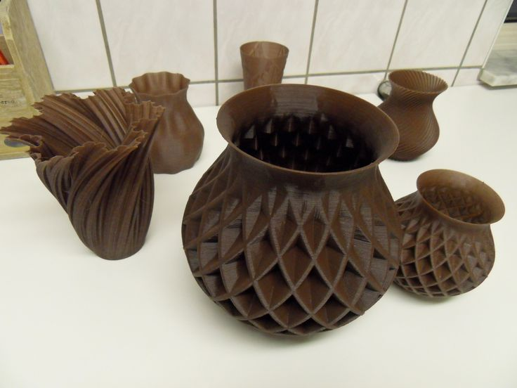 3d printed chocolate vases made on my ultimaker 3d for Made with 3d printer