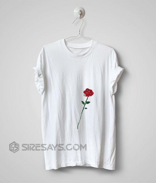 Rose T Shirt, Make Your Own Tshirt, Hand made item Cheap Tshirt Printing, Custom T Shirts No Minimum