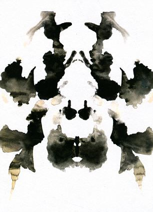 Rorschach art prints for interesting conversation pieces... bar area