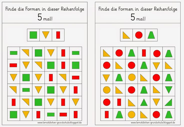 Lernstübchen: Formenkombinationen finden (1)