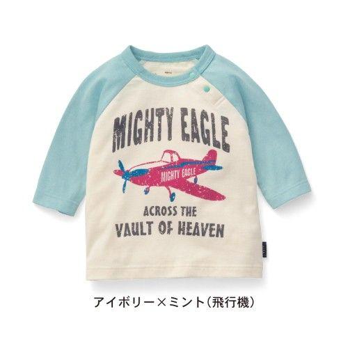【ベビー服】プリント七分袖Tシャツ【ネット限定カラーあり】