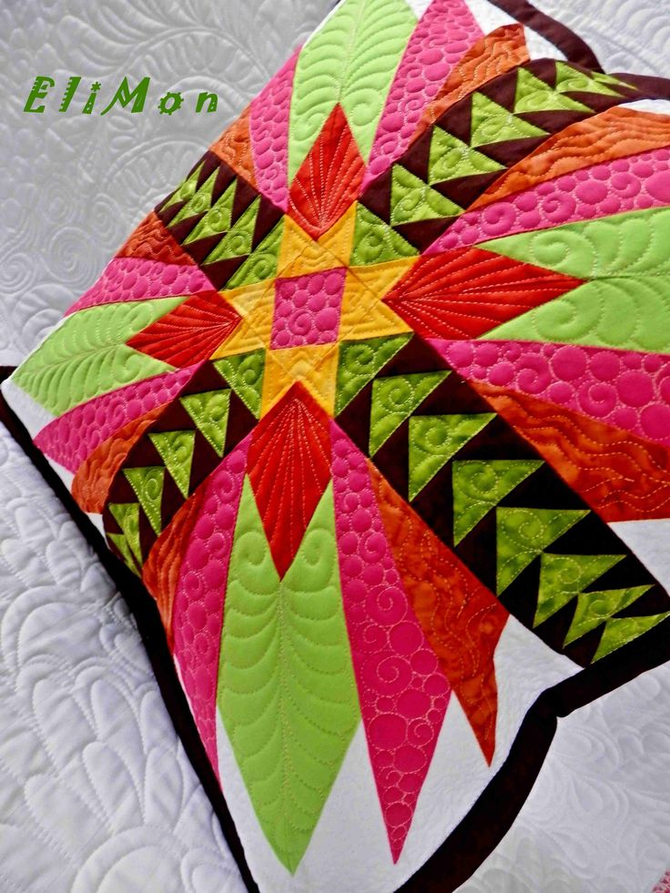 Patchwork and Quilting pillow.