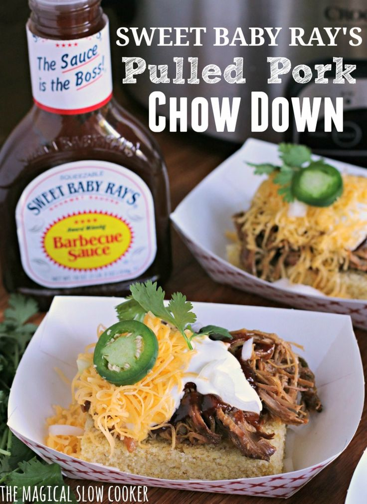 Sweet Baby Ray's Pulled Pork Chow Down @sbrbbq
