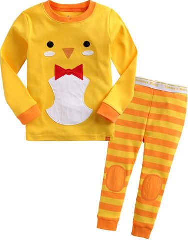 100% Cotton 2pcs 12M-7T Baby Kids Homewear Pajama Sleepwear Set chicky 26$