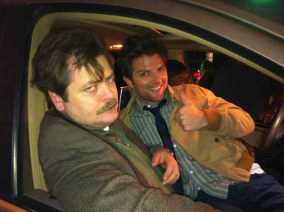 When I was a child, I won a dancing competition against Nick Offerman.   10 Incredible True Facts About Adam Scott, According To Adam Scott