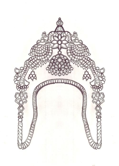 sketched aVanki(arm band) a traditional Indian ornament…