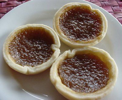 Butter Tarts, A woman from Canada used to bring these every winter to Daytona Beach where we stayed, we all awaited her arrival, she used to dole them out every afternoon about 4.