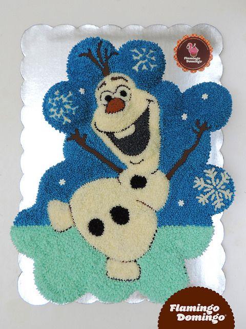 Frozen Olaf Cupcake Cake by Flamingo Domingo / Olaf, pastel formado con cupcakes